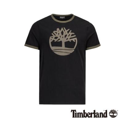 Timberland 男款黑色LOGO短袖T恤|A1W1V