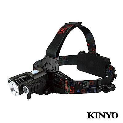 KINYO超亮LED旋轉三頭變焦頭燈LED725