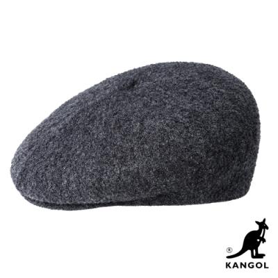 KANGOL-BOILED WOOL 鴨舌帽-深藍色