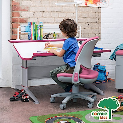 comta kids_MERIT擇優創意兒童成長學習桌‧幅112cm(粉紅) W112*D80.5*H52~74 cm