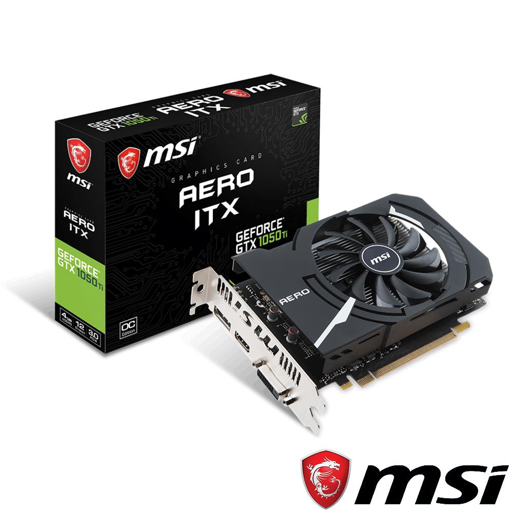 MSI微星 GeForce GTX 1050 Ti AERO ITX 4G OCV1 顯示卡