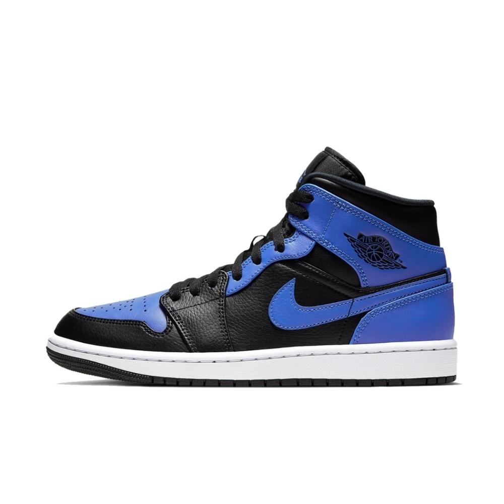 NIKE AIR JORDAN 1 MID 男籃球鞋-藍-554724077