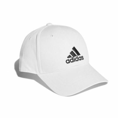 adidas 帽子 Baseball Cap 運動休閒 男女款 愛迪達 棒球帽 遮陽 穿搭 帽圍可調 白 黑 FK0890