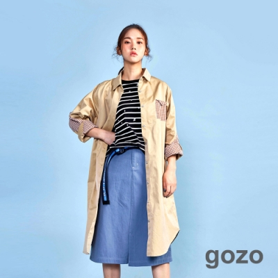 gozo 不對稱口袋A字裙(二色)