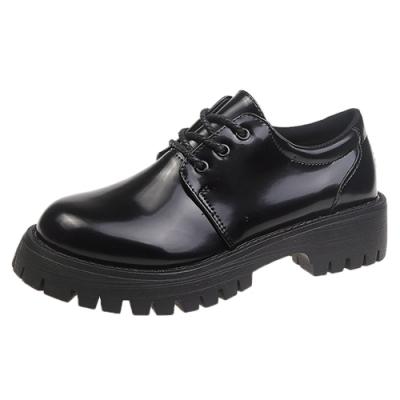 KEITH-WILL時尚鞋館 歐洲站小雛菊松糕鞋-亮皮黑