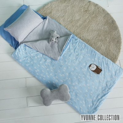 YVONNE COLLECTION 貓頭鷹兒童睡袋(120 x 150公分)-淺藍