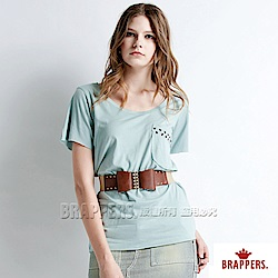 BRAPPERS 女款 愛心貼片短袖T恤-綠
