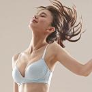 蕾黛絲-舒芙蕾無鋼圈挺素面 D罩杯內衣 天空藍
