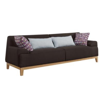 文創集 奧斯現代風亞麻布獨立筒三人座沙發椅-210x80x70cm免組