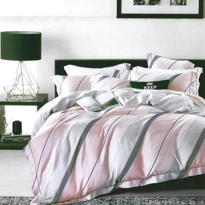 LAMINA 貝格 加大100%天絲四件式兩用被套床包組