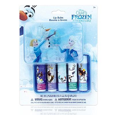 美國熱銷卡通 Frozen 盒裝護唇膏5入