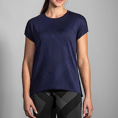 BROOKS 女 Array背開式透氣短袖 海軍藍 (221288465)