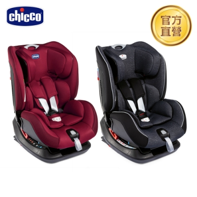 chicco-Seat up 012 Isofix安全汽座勁黑版(特務黑/熱情紅)