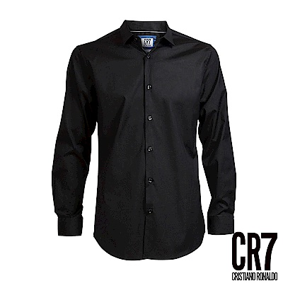 CR 7 -Slim Fit 黑色標準立領襯衫( 8600 - 7200 - 301 )