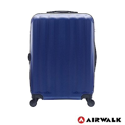 AIRWALK - 海岸線系列 BoBo經濟款ABS硬殼拉鍊24吋行李箱 - 晝日藍