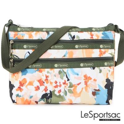 LeSportsac - Standard 橫式三層拉鍊斜背包 (綻放藝彩)