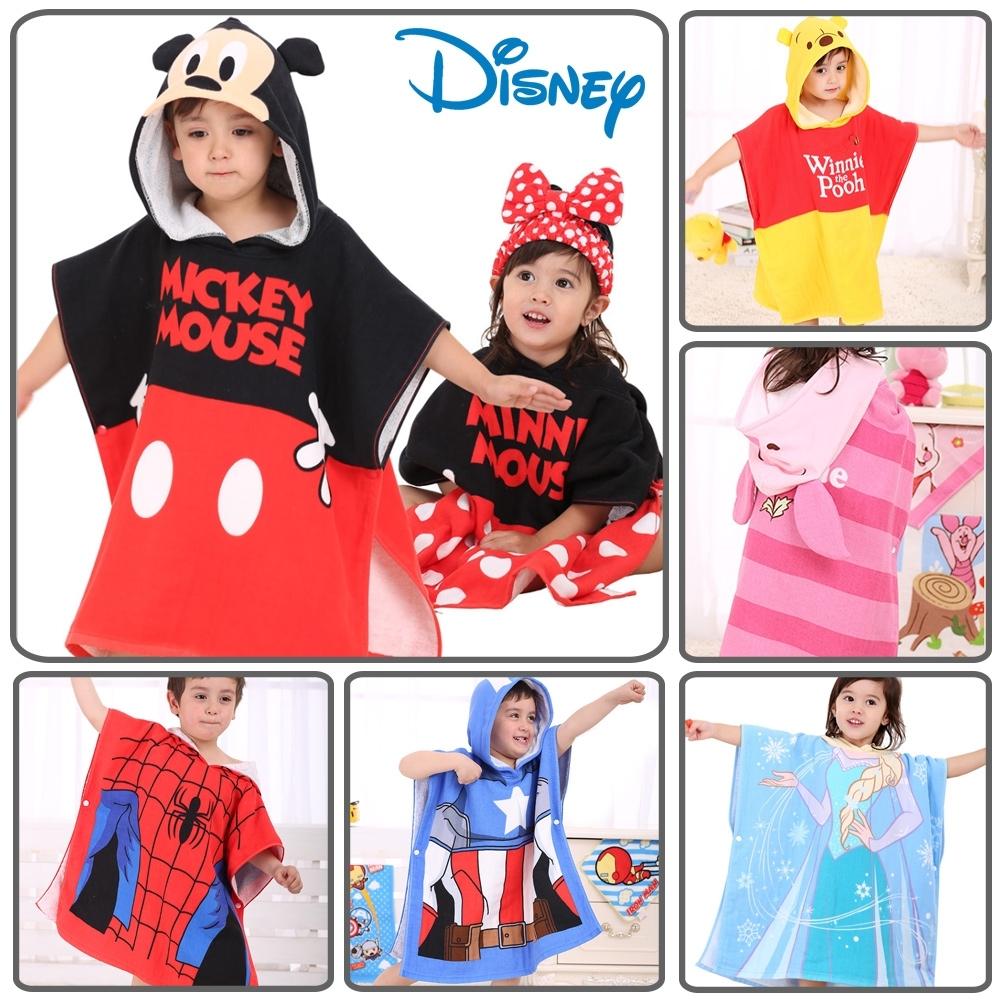 【優貝選】迪士尼兒童連帽浴巾 純棉寶寶浴巾 兒童斗篷浴巾