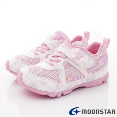 日本月星頂級童鞋 2E競速運動鞋款 NI694粉(中小童段)