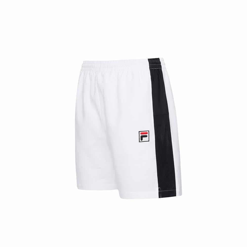 FILA 男平織短褲-白色 1SHU-5005-WT