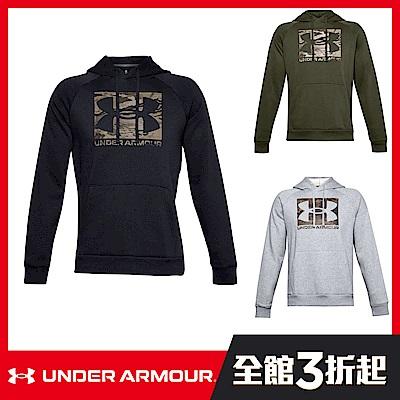 【UNDER ARMOUR】男 Rival Fleece連帽長袖套頭衫