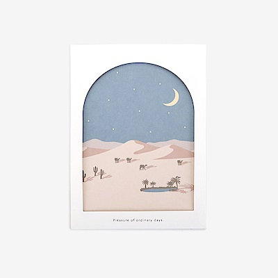 Dailylike 世界之窗卡片組-05沙漠