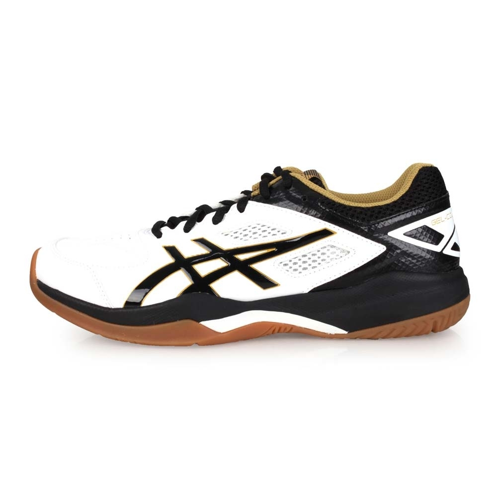 ASICS GEL-COURT HUNTER 男羽球鞋-訓練 白黑芥末黃
