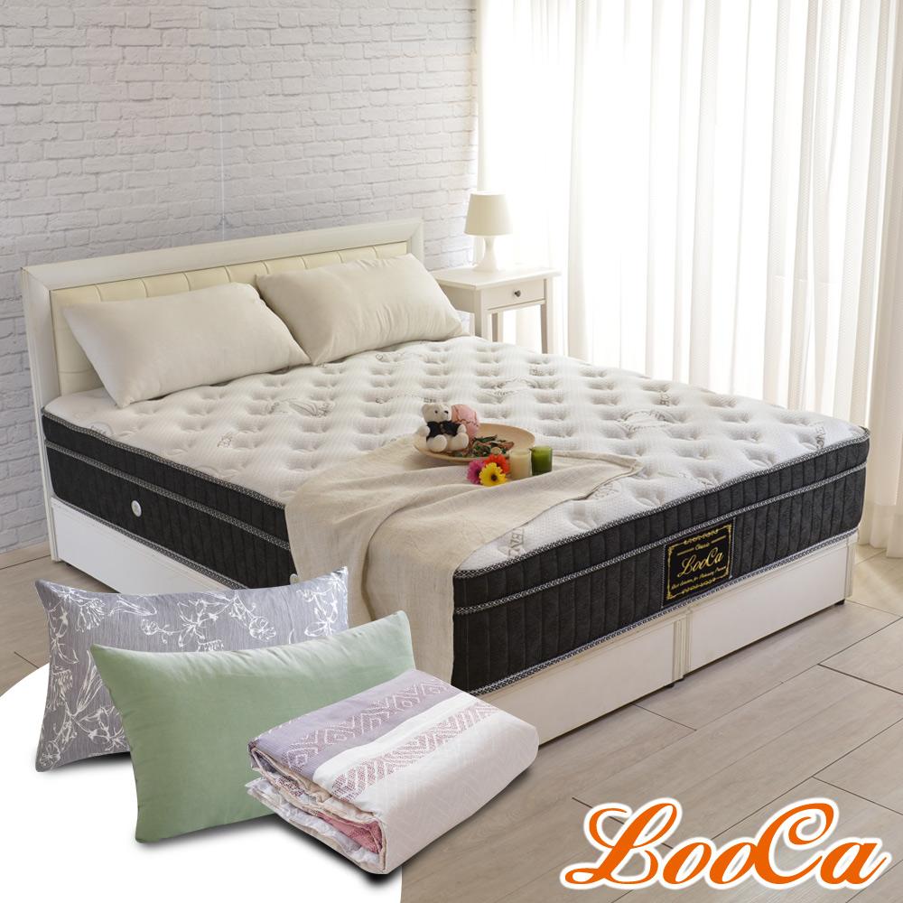 (成家組)單人-LooCa尊皇防蹣+護框+乳膠高支撐獨立筒床墊