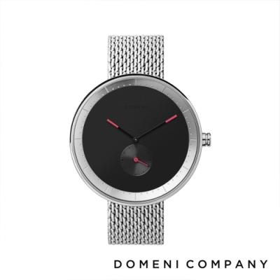 DOMENI COMPANY 經典系列 316L不鏽鋼單眼錶 銀色錶帶 -黑/40mm