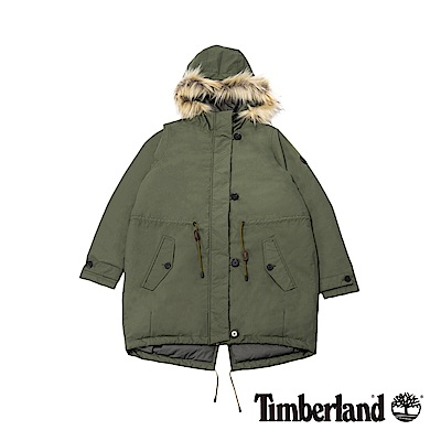 Timberland 女款葡萄葉防水可拆卸毛皮派克大衣|B 2121
