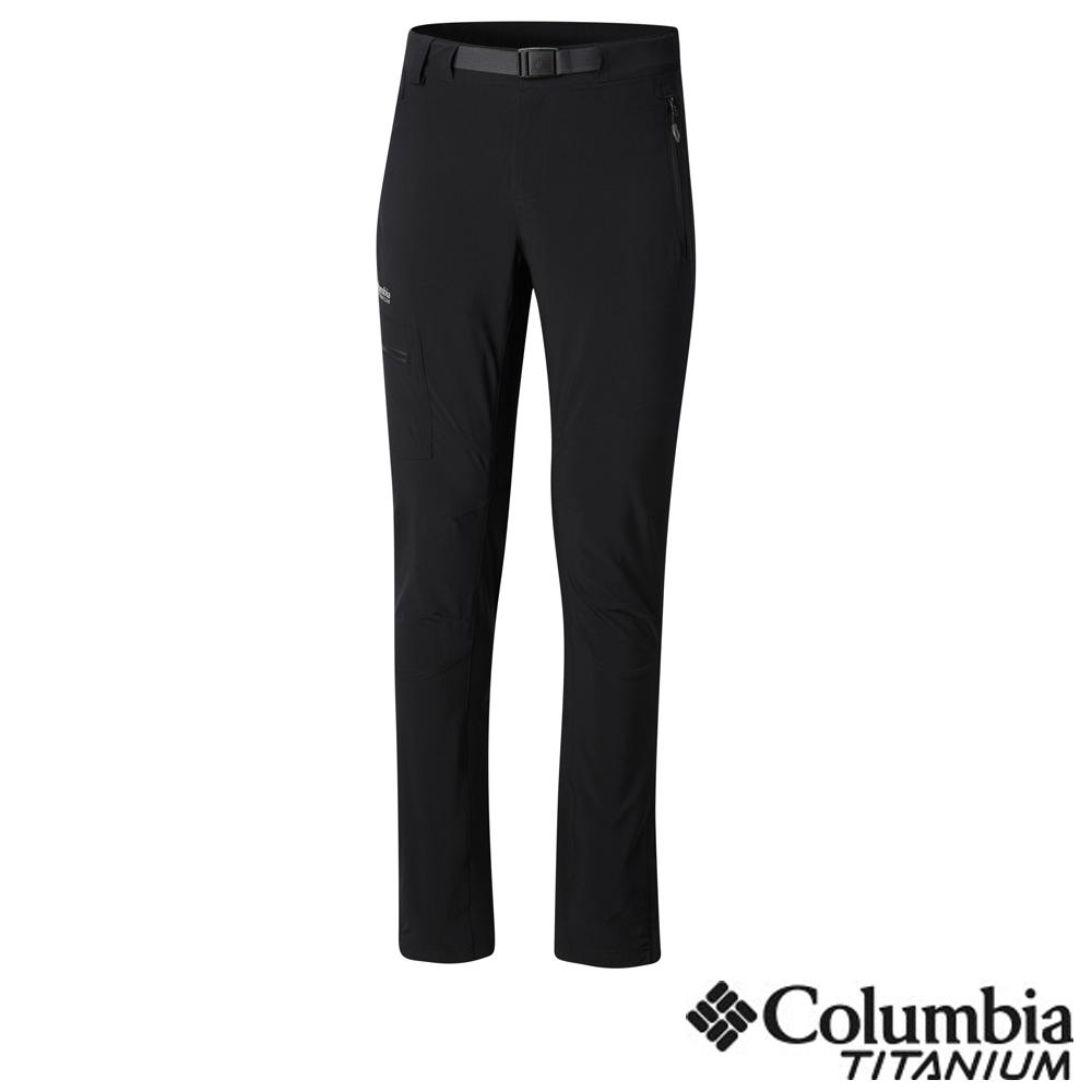Columbia哥倫比亞 男款-鈦 防潑彈性長褲-黑色 UAO05110BK
