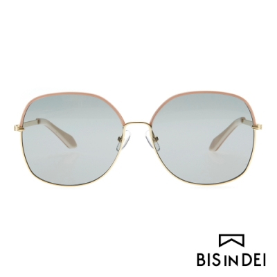 BIS IN DEI 精緻金屬方框太陽眼鏡-粉