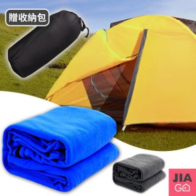 JIAGO 背包客露營必備輕巧搖粒絨睡袋