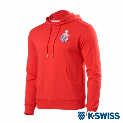 K-SWISS Hood Sweatshirt SNOOPY連帽上衣-男-紅