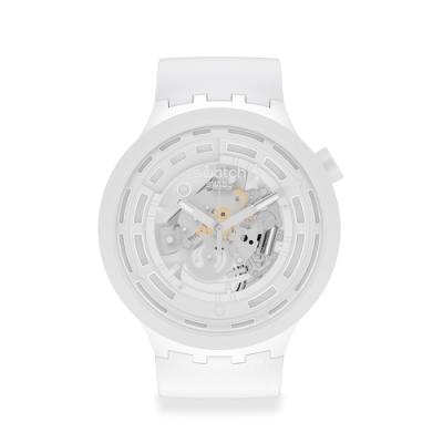 SWATCH 生物陶瓷 BIG BOLD系列手錶C-WHITE 陶瓷白(47mm)