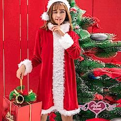 角色扮演 神密送禮 聖誕連身裙派對表演服(紅F) AngelHoney天使霓裳