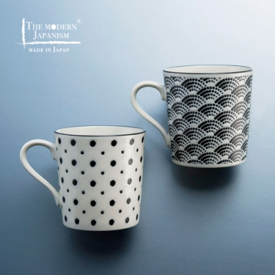 有種創意 日本美濃燒 - 小紋馬克對杯組 (2件式)