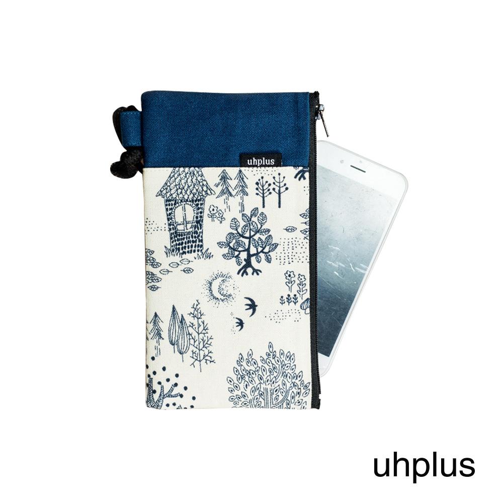 uhplus 手機袋 濛霧森林(米白)