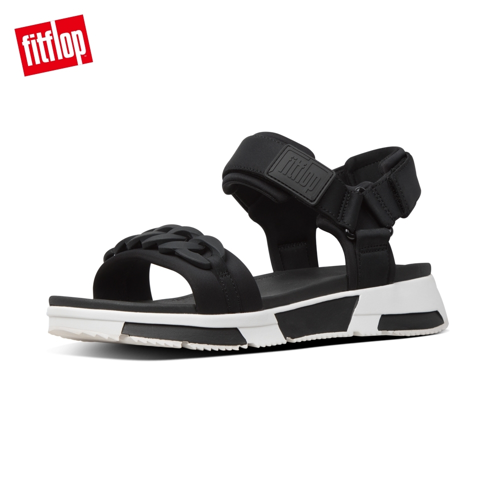 FitFlop HEDA CHAIN BACK-STRAP SANDALS 運動風後帶涼鞋-女(黑色)
