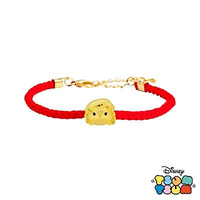 Disney迪士尼TSUM TSUM系列金飾 黃金編織手鍊-小美人魚款