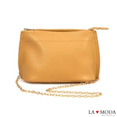 La Moda 輕巧百搭多背法肩背斜背鍊條小包(黃)