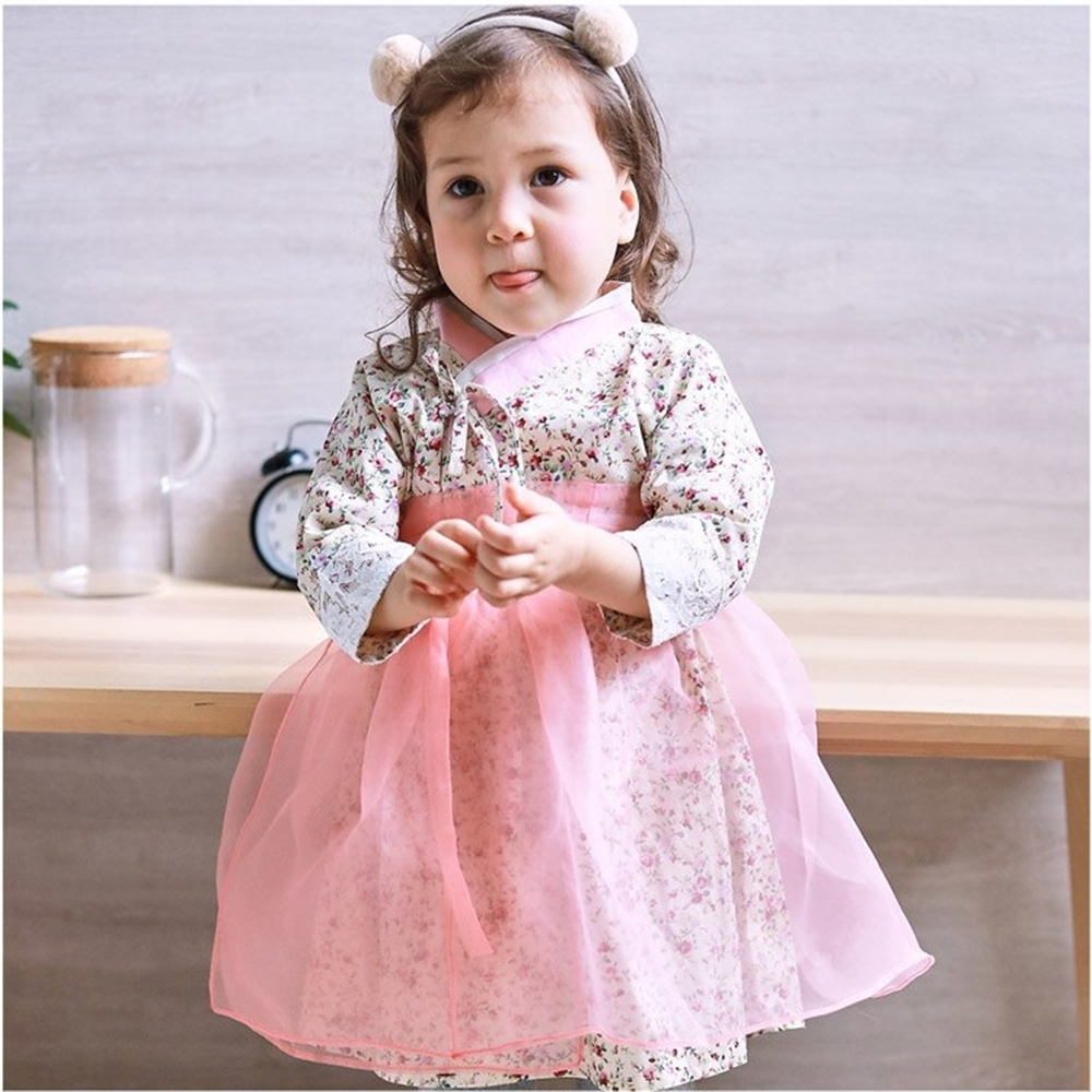 Baby童衣 長袖洋裝 韓國女童傳統韓服 82039