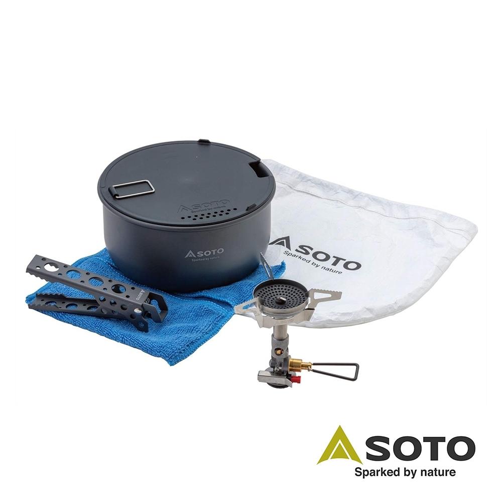 日本SOTO 穩壓防風爐鍋具組 SOD-310CC