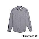 Timberland 男款淡麻灰色Mill River長袖漸層襯衫