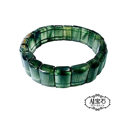 A1寶石   頂級綠髮晶手排-同鈦晶綠幽靈水晶能量-主正財事業財富貴人心輪(唯一精品)