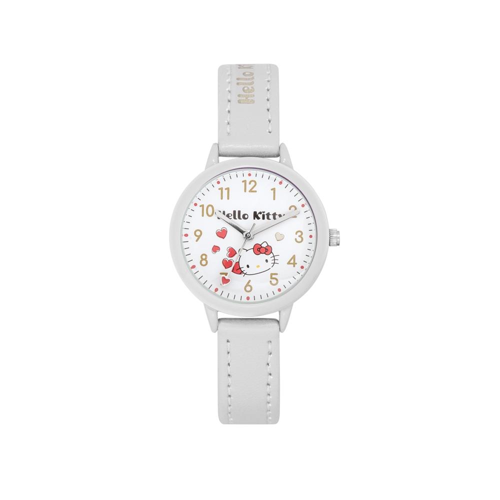 HELLO KITTY 凱蒂貓 粉嫩簡約造型手錶-白/32mm @ Y!購物