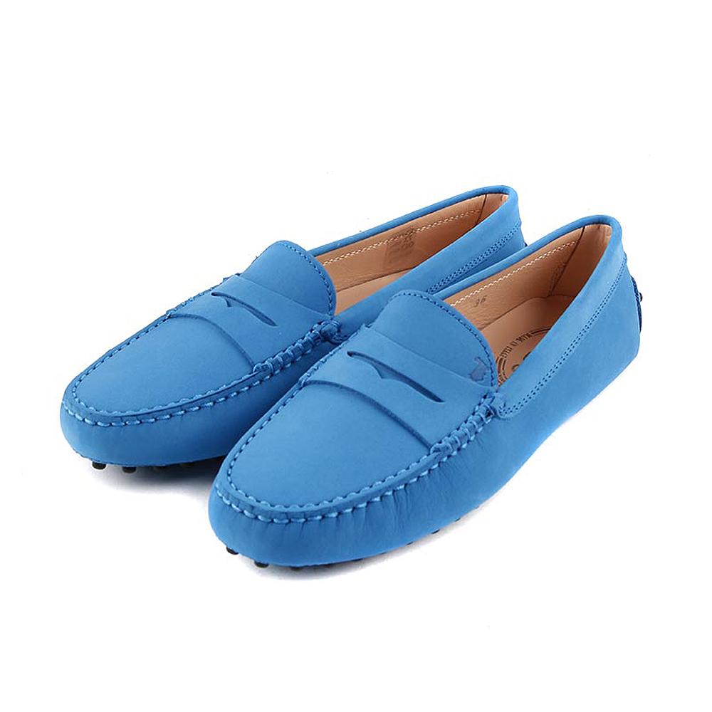 TOD'S Gommino 磨砂小牛皮休閒豆豆鞋(牛仔藍)