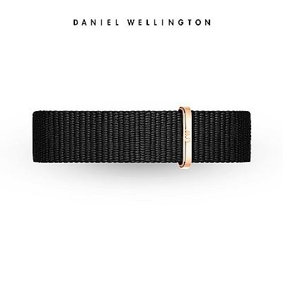 DW 錶帶 14mm金扣 寂靜黑織紋錶帶