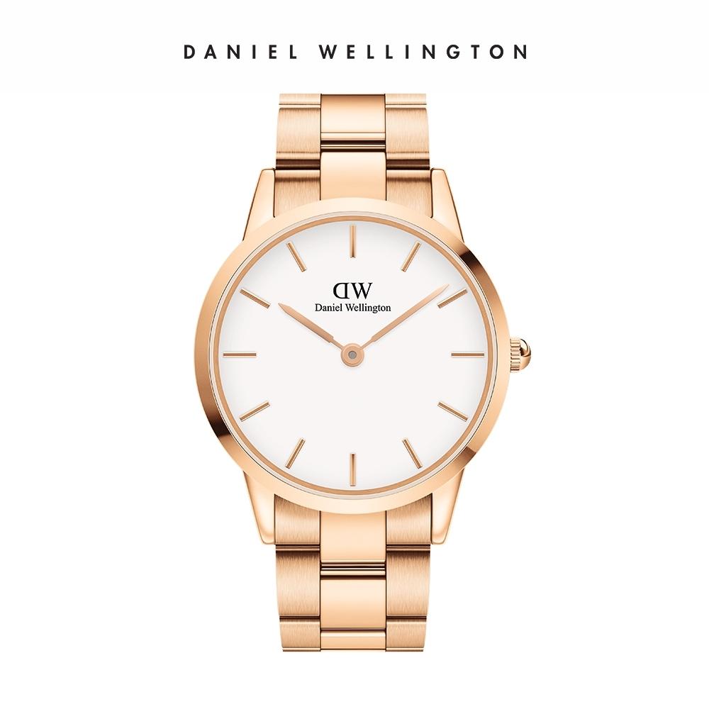 【Daniel Wellington】官方直營 Iconic Link 40mm精鋼錶-特調玫瑰金 DW手錶