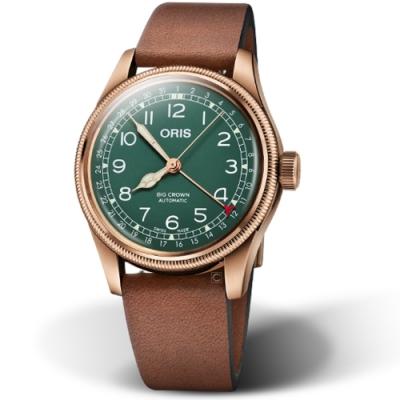 Oris豪利時BIG CROWN指針日期80週年青銅紀念錶-40mm