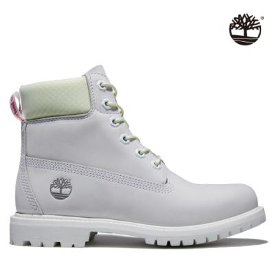 Timberland 女款白色磨沙革6吋防水靴|A2HYS
